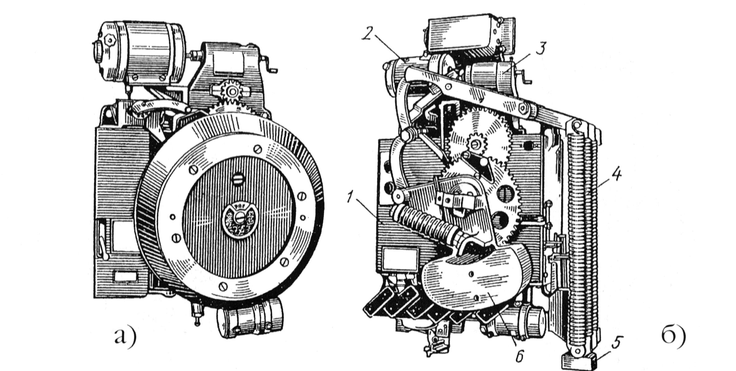 Рис. 1-9. Пружинные приводы ППМ-10 (а) и ПП-67 (б).
