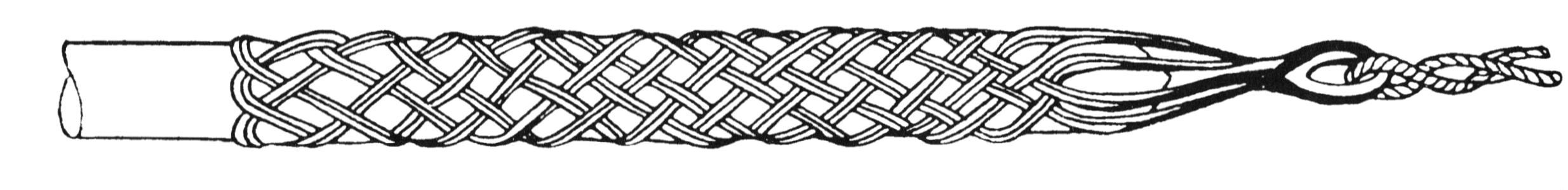 Тяжение кабеля кабельным чулком.