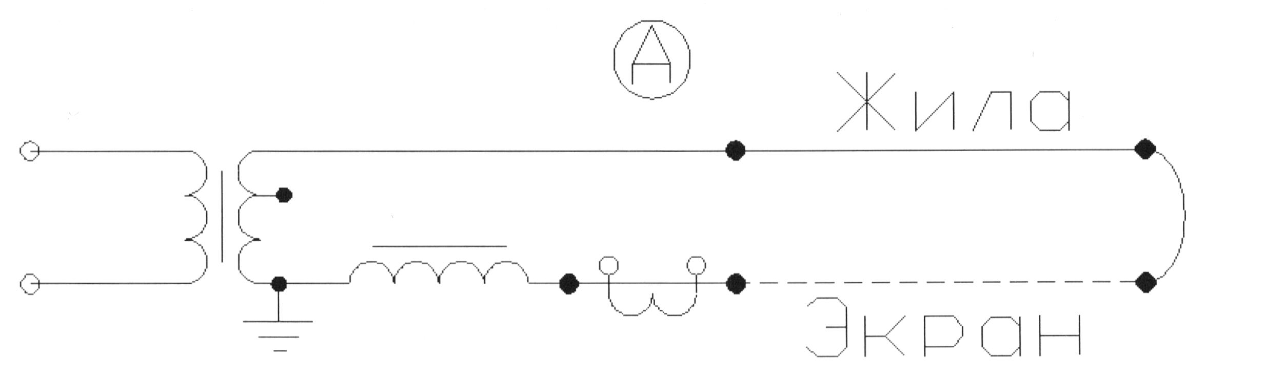 Схема прогрева одножильных кабелей