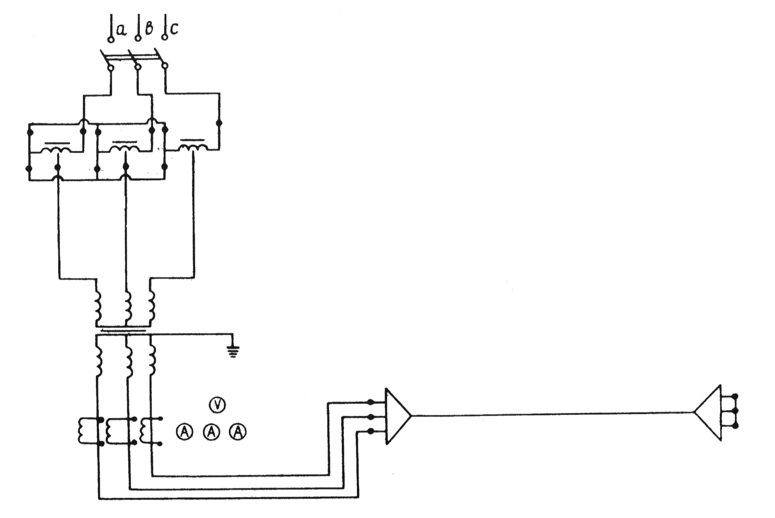 Схема прогрева кабелей трехфазным током