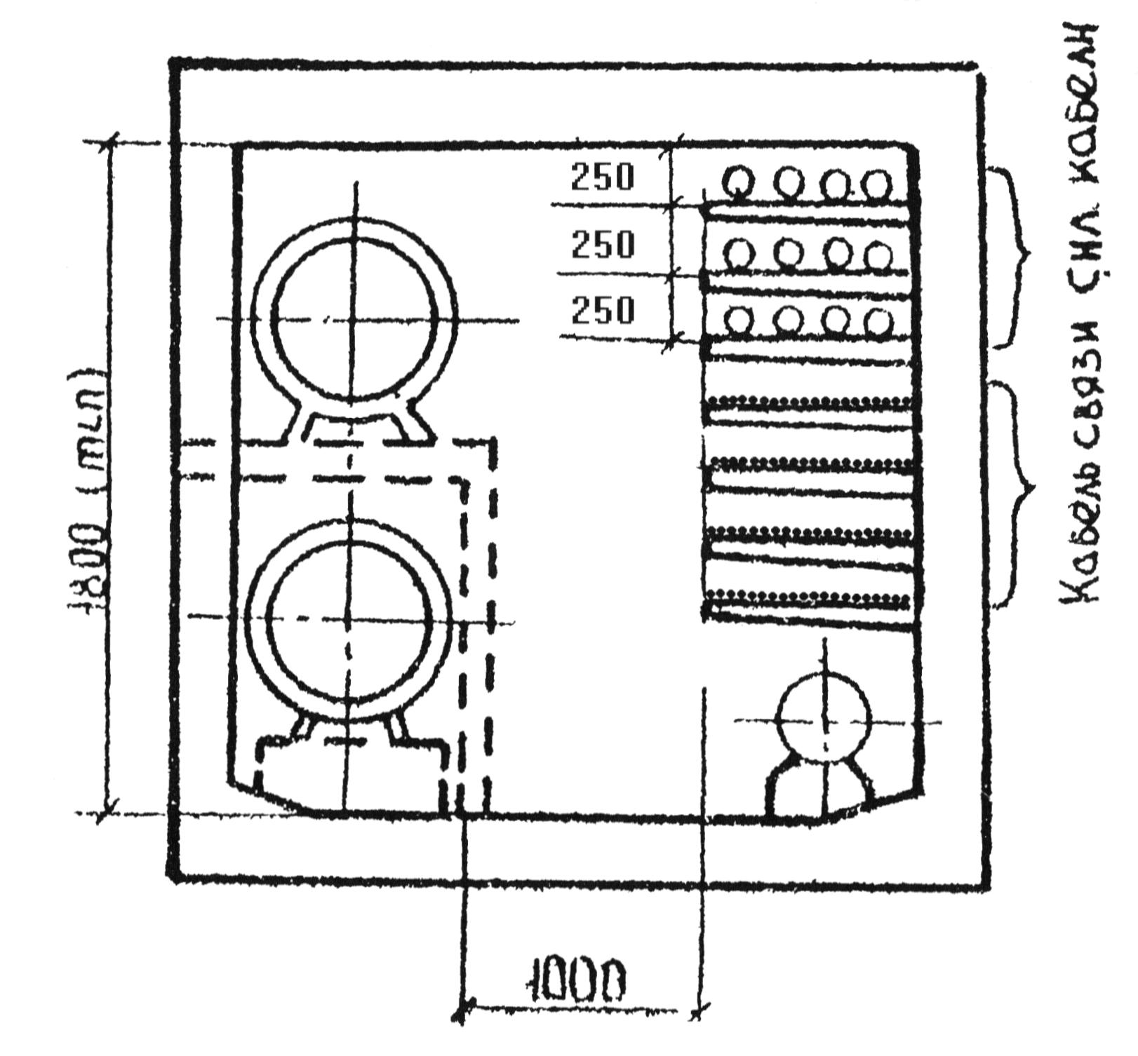 Пример прокладки кабелей в коллекторе
