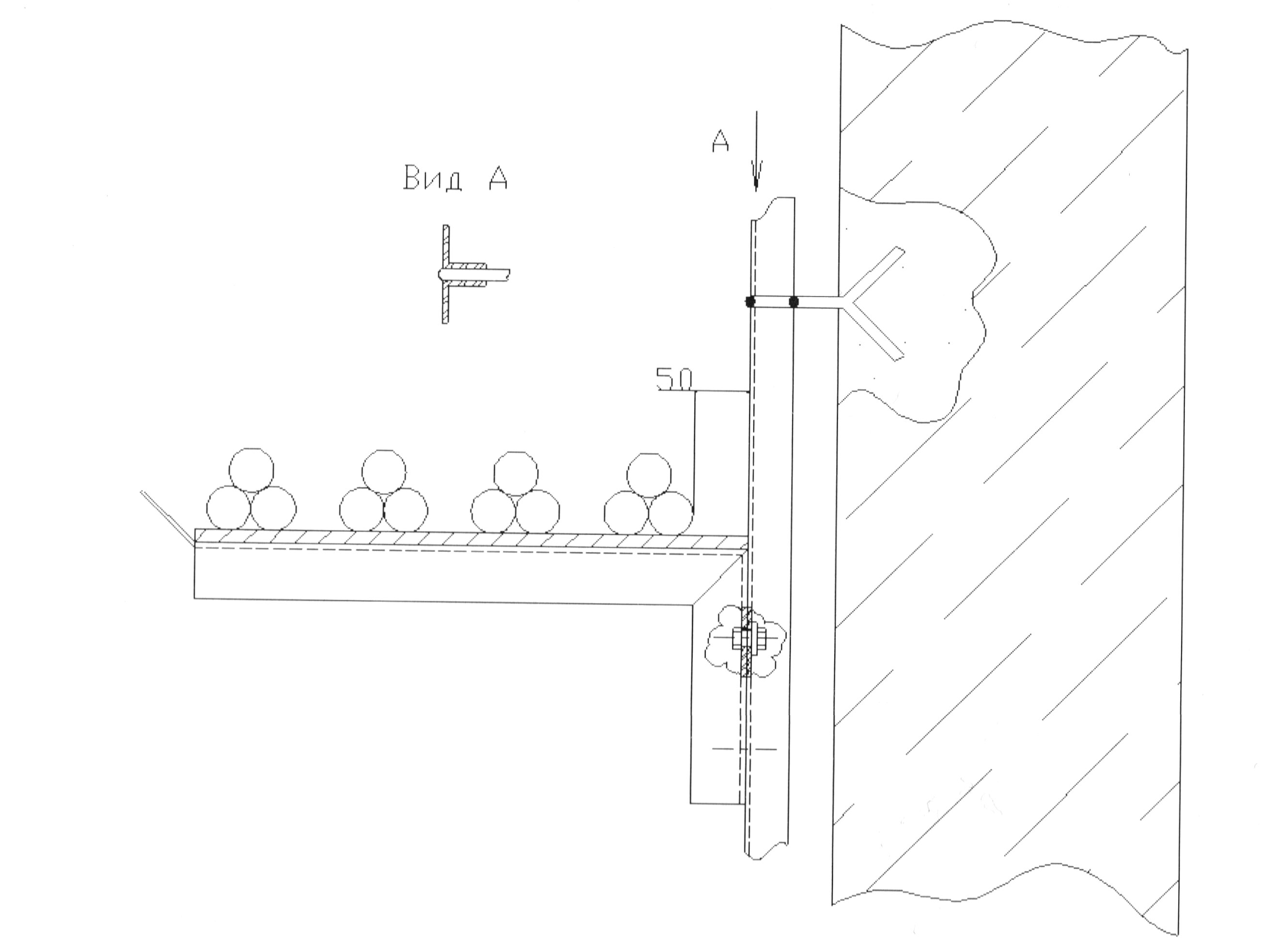 Рис. 3-7. Пример прокладки кабелей на сборных кабельных конструкциях.