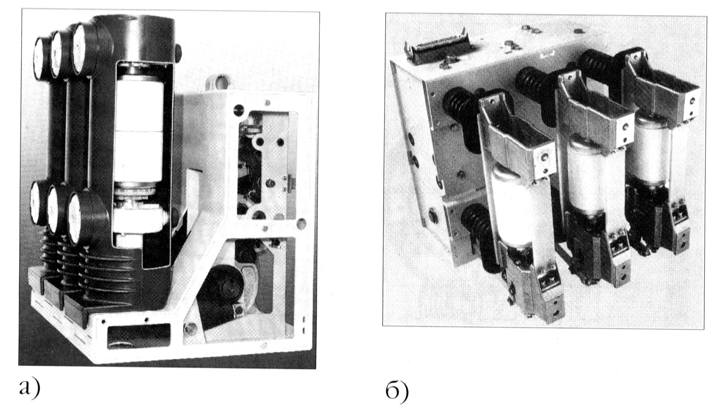 Рис. 1-11. Вакуумные выключатели VD-4 (ABB) и 3AH5 (Siemens) - общий вид.